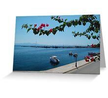 Greek Harbour Greeting Card