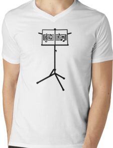 Music stand notes Mens V-Neck T-Shirt