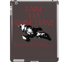 Aim to Misbehave Black and White iPad Case/Skin