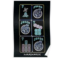 "Lucky Sevens and Jokers ""Mahjaholic"" #8 ~ Mah Jongg Series Poster"