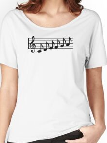 Notes music clef Women's Relaxed Fit T-Shirt
