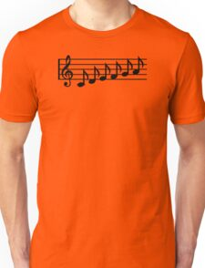 Notes music clef Unisex T-Shirt