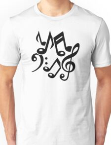 Notes classic music Unisex T-Shirt