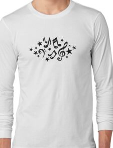 Music notes stars Long Sleeve T-Shirt