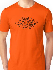 Music notes stars Unisex T-Shirt