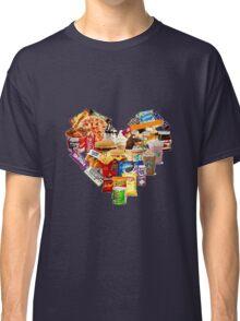 Junk Food Love Heart Classic T-Shirt
