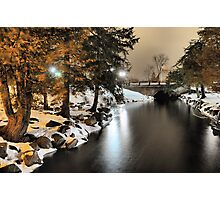 Fenton Banks of the Shiawasee River Photographic Print