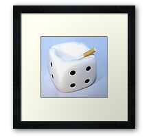 Dont dice with death Framed Print