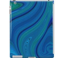blue swirl iPad Case/Skin