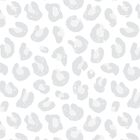 Silver Gray and White Leopard Print by daisy-beatrice
