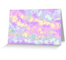 pastel clouds  Greeting Card