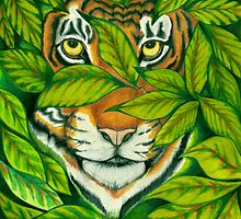 Pensive Tiger by Catherine  Howell