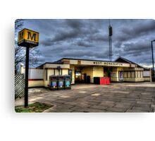 West Monkseaton Metro Station Canvas Print