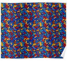 Blue Puzzle Design Poster