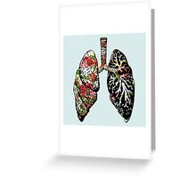 Smokers Lung Greeting Card