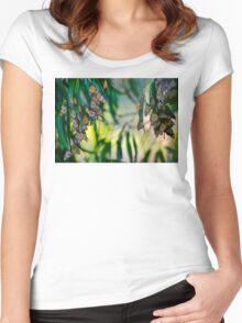 Elegant Blossoms Women's Fitted Scoop T-Shirt