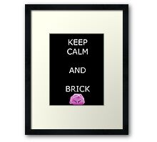 Keep Calm and Brick - Kirby Framed Print