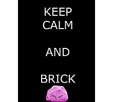 Keep Calm and Brick - Kirby Photographic Print