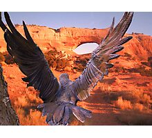 Chasing The Eagle Photographic Print