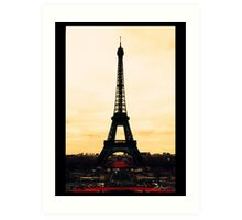 infrared Eiffel Tower Art Print