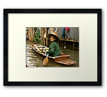 Coconut Milk Boat Framed Print