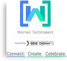 Women Techmakers Powered by GDG Denver Canvas Print