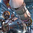 Apollo Command Module Saturn V Rocket by David Lamb
