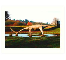 There is a Dinosaur in the Park  Art Print