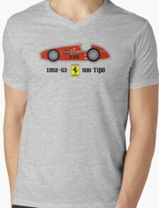 1952-53 Ferrari 500 Tipo, Double F1 championship winning car Mens V-Neck T-Shirt