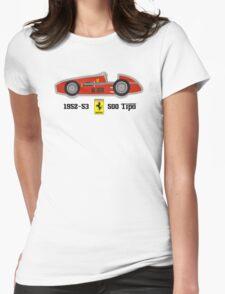 1952-53 Ferrari 500 Tipo, Double F1 championship winning car Womens Fitted T-Shirt