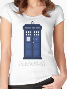 Doctor Who Police Call Box Women's Fitted Scoop T-Shirt