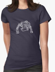Tractor Golem (White) Womens Fitted T-Shirt