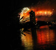 NYE fireworks  by Aaron Carr