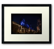 Blue Stacks HDR Framed Print