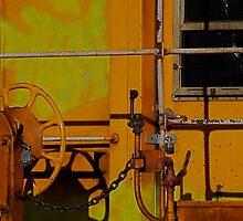 Yellow Caboose by Pamela Hubbard