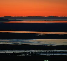 Sunset over the Great Salt Lake by Ken Fortie