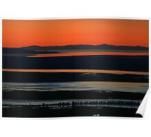 Sunset over the Great Salt Lake Poster