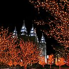 Christmas at Temple Square by Ken Fortie