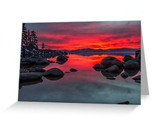 Sky on Fire - Lake Tahoe Greeting Card