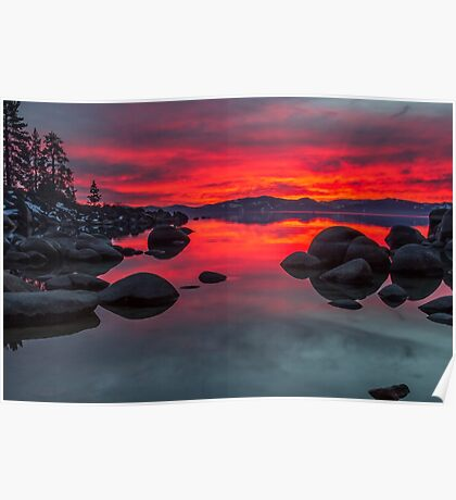 Sky on Fire - Lake Tahoe Poster