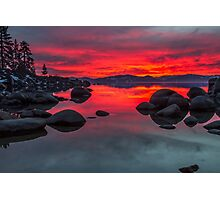 Sky on Fire - Lake Tahoe Photographic Print