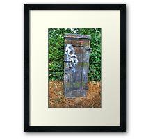 Telephone Junction Box Framed Print