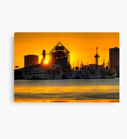 First sunrise of the New Year, 2009; Tokyo Bay, Japan Canvas Print