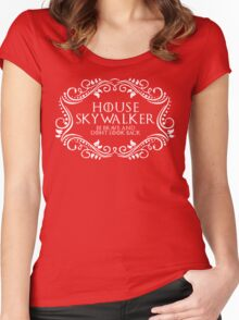 House Skywalker (white text) Women's Fitted Scoop T-Shirt