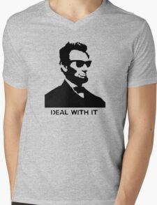 Cool Abe Lincoln - Deal With It (Clothing) Mens V-Neck T-Shirt