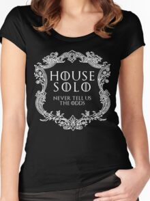 House Solo (white text) Women's Fitted Scoop T-Shirt