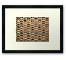 Wicker Chair Texture Framed Print