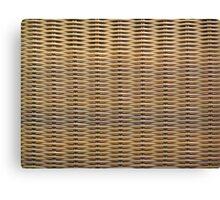 Wicker Chair Texture Canvas Print