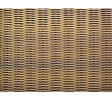 Wicker Chair Texture Photographic Print