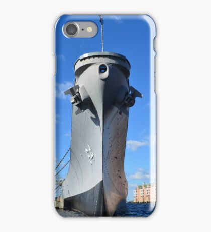 The Bow of the USS Wisconsin iPhone Case/Skin